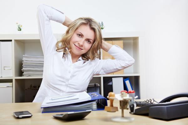 Упражнения за рабочим столом